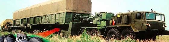 48-колесный автопоезд РВСН 15Т284(М)