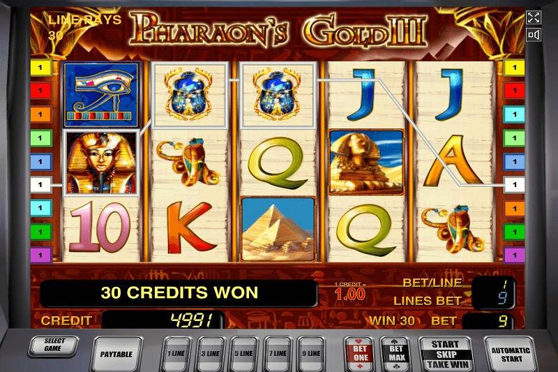 Игровой слот Pharaoh's Gold III