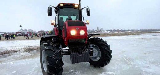 Дрифт на тракторе МТЗ Беларус 1523
