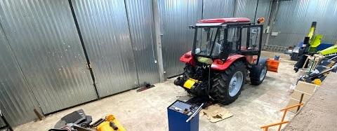 Дооснащение трактора Беларус 92П дорожной фрезой