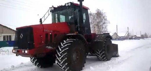 Трактор Кировец: Расчистка дорог