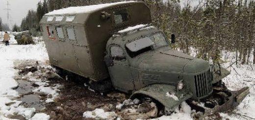 ЗИЛ-157 против ГАЗ-66 на бездорожье