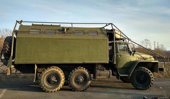 Багажник на кунг Урал4320