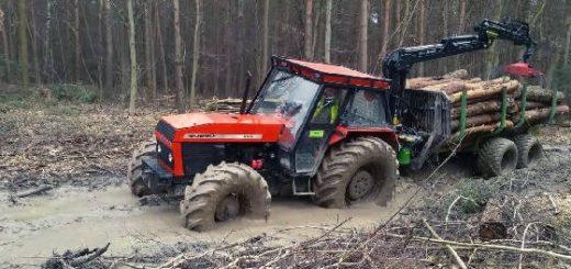 Тракторы лесовозы на бездорожье