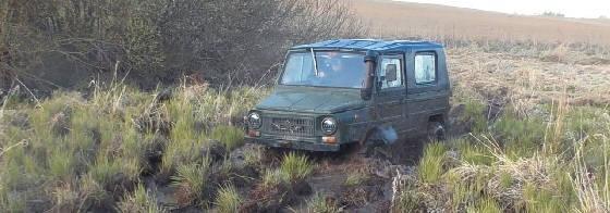 Стоковый ЛуАЗ-969 на квадрорезине