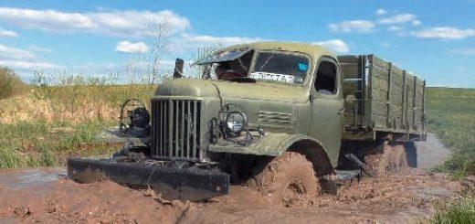 грузовик ЗиЛ-157 на бездорожье