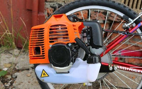 Установка двигателя на велосипед