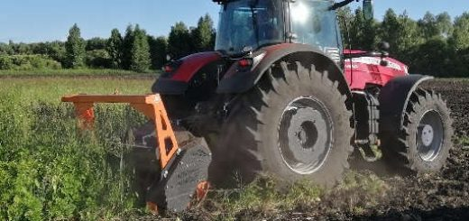 Трактор Massey Ferguson с мульчером TMC Cancela