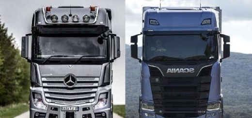 Scania S730 V8 vs Mercedes Benz Actros