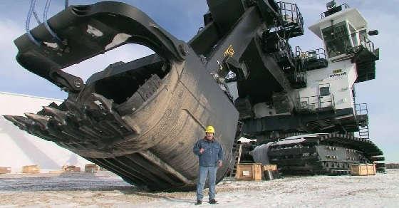Самые большие и мощные экскаваторы в мире