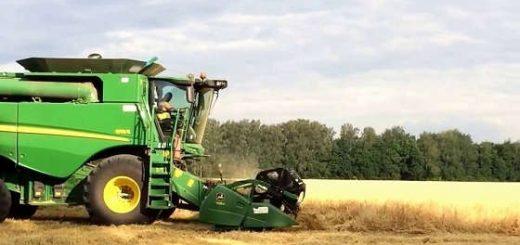 уборка пшеницы на Джон дир s670