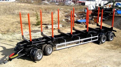 Прицеп-сортиментовоз для леса с балансирной подвеской