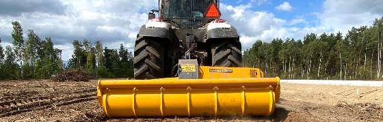 Трактор VALTRA T234 c финским ротоватором MERICRUSHER MJS-241STG