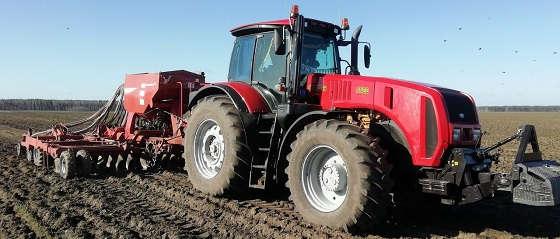 Мтз-3522 с сеялкой Kverneland 6000