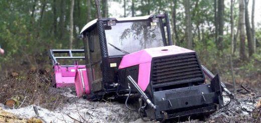 Спасение болотного трактора ВЗГМ-90