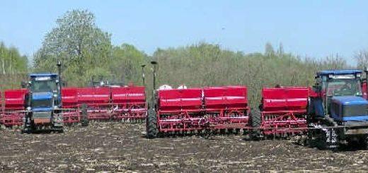 Гусеничные тракторы Агромаш 90ТГ с сеялками СЗ-3,6