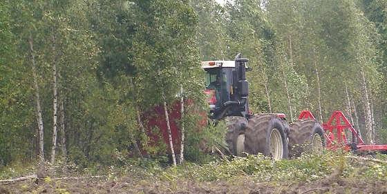 тракторы для расчистки земель от деревьев