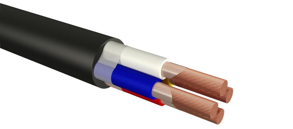 Силовой кабель с резиновой изоляцией
