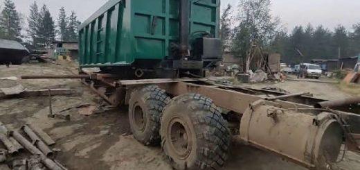 Установка самосвального кузова на КрАЗ