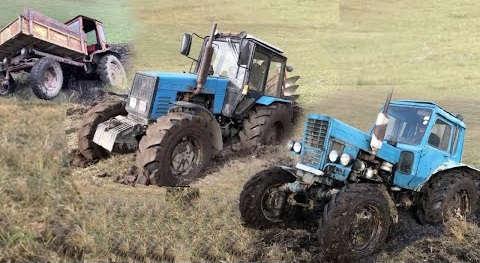 Сравнение Тракторов МТЗ 1221, мтз 82, Т-40, Т-25