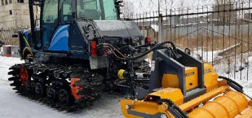 Трактор Агромаш 90ТГ и финская фреза ротоватор MERICRUSHER