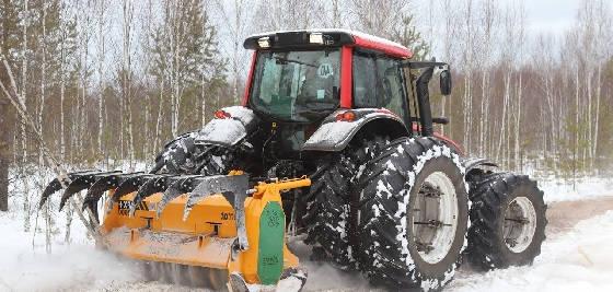 Трактор VALTRA T191 c мульчером SERRAT FX+ T2000