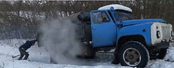 Газ 53 ВАЛИТ БОКОМ