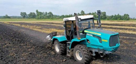 трактор ХТЗ Т-150К и плуг Kverneland PN 85