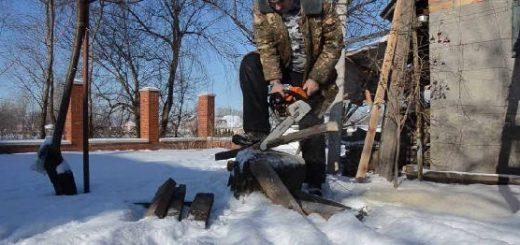 Работа с Бензопилами Stihl и Husqvarna в мороз