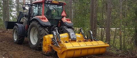 Расчистка финским ротоватором Mericrusher MJ 2.3 DT