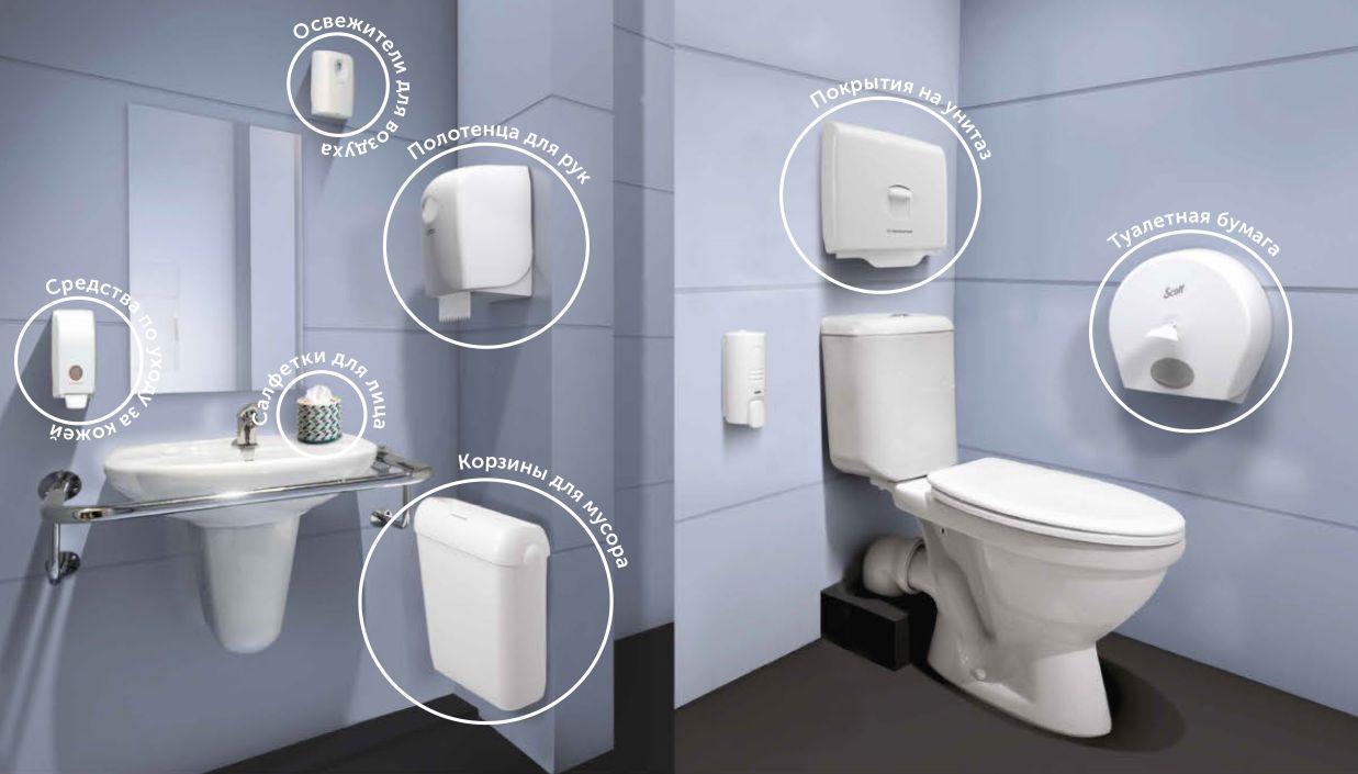 Оснащение для туалетов и ванных комнат