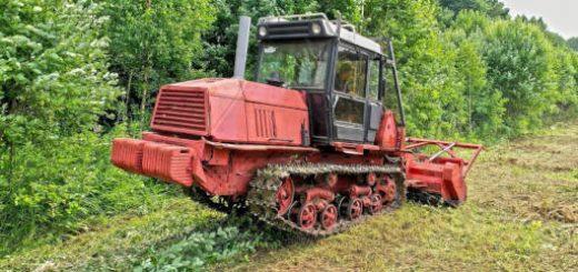 Гусеничный трактор ВТ-150 с навесным мульчером PRINOTH AHWI M500